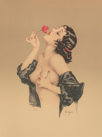 After Alberto Vargas (American, 1896-1982) Memories of Olive Print 33 x 25.25 in. (sheet) Ed