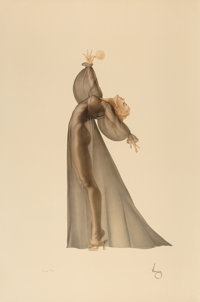 After Alberto Vargas (American, 1896-1982) Sheer Elegance Print 39.5 x 26.25 in. (sheet) Ed. 4