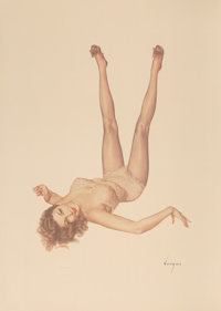 After Alberto Vargas (American, 1896-1982) Legacy Girl Print 36 x 26.25 in. (sheet) Ed. 49/50<