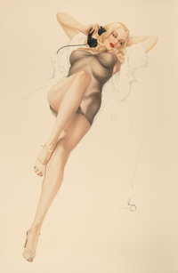 After Alberto Vargas (American, 1896-1982) First Love Print 39.5 x 26.25 in. (sheet) Ed. 49/50