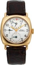 Timepieces:Wristwatch, Dubey & Schaldenbrand 18k Carre Cambre Diplomatic GMTAutomatic. ...
