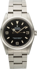 Timepieces:Wristwatch, Rolex Ref. 14270 Steel Oyster Perpetual Explorer. ...