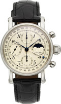 Timepieces:Wristwatch, Chronoswiss Steel Lunar Automatic Chronograph Calendar. ...