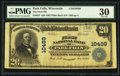 National Bank Notes:Wisconsin, Park Falls, WI - $20 1902 Plain Back Fr. 657 The First NB Ch. # 10489. ...