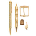 Estate Jewelry:Lots, Gold Lot . ... (Total: 5 Items)