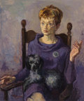 Fine Art - Painting, American, Moses Soyer (American, 1899-1974). Ida Soyer with Marthe, 1964. Oil on canvas. 36 x 30 inches (91.4 x 76.2 cm). Signed a...