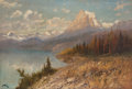 Fine Art - Painting, American, John Fery (American, 1859-1934). Lake St. Mary, Going to the SunMountain. Oil on canvas. 48-1/4 x 70-3/4 inches (122.6 ...
