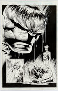 Original Comic Art:Splash Pages, Mike Deodato Jr. and Tom Wegrzyn Incredible Hulk #447 SplashPage 22 Original Art (Marvel, 1996)....