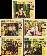 """Charade (Universal, 1963). Lobby Cards (5) (11"""" X 14""""). Mystery. ... (Total: 5 Items)"""