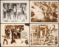 "Movie Posters:Western, The Lightning Rider & Other Lot (W.W. Hodkinson Corporation, 1924). Fine/Very Fine. Lobby Cards (4) (11"" X 14""). Western.. ... (Total: 4 Items)"