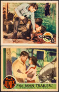 """Movie Posters:Western, The Man Trailer (Columbia, 1934). Overall: Very Fine. Lobby Cards (2) (11"""" X 14""""). Western.. ... (Total: 2 Items)"""