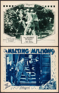 """Melting Millions & Other Lot (Pathé, 1927). Lobby Cards (2) (11"""" X 14"""") Chapter 8 -- """"The..."""