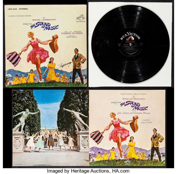 The Sound of Music (RCA, 1965)  Autographed Vinyl Record