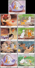 "Movie Posters:Animation, The Aristocats (Buena Vista, R-1987). Lobby Card Set of 8 & Lobby Card (11"" X 14""). Animation.. ... (Total: 9 Items)"