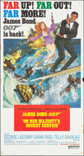 "Movie Posters:James Bond, On Her Majesty's Secret Service (United Artists, 1970).International Three Sheet (41"" X 77"") Frank McCarthy & RobertMcGinn..."