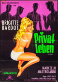 """Movie Posters:Foreign, A Very Private Affair (MGM, 1962). German A1 (23.25"""" X 33""""). Foreign.. ..."""
