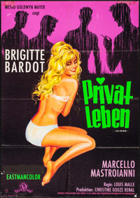 "A Very Private Affair (MGM, 1962). German A1 (23.25"" X 33""). Foreign"