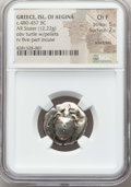 Ancients:Greek, Ancients: SARONIC ISLANDS. Aegina. Ca. 480-457 BC. AR stater (12.22gm). NGC Choice Fine 5/5 - 2/5, scratches....