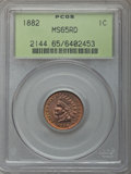 Indian Cents: , 1882 1C MS65 Red PCGS. PCGS Population: (79/27). NGC Census: (27/5). MS65. Mintage 38,581,100. ...
