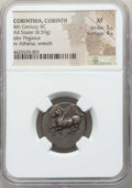 Ancients:Greek, Ancients: CORINTHIA. Corinth. Ca. 345-307 BC. AR stater (8.59 gm).NGC XF 5/5 - 4/5....