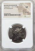 Ancients:Greek, Ancients: SELEUCID KINGDOM. Alexander I Balas (152-145 BC). ARtetradrachm. NGC VF, gouge....