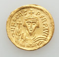 Ancients:Byzantine, Ancients: Phocas (AD 602-610). AV solidus (4.40 gm). AU,graffito....