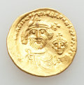 Ancients:Byzantine, Ancients: Heraclius (AD 610-641) and Heraclius Constantine.AVsolidus (4.42 gm).AU, bent....