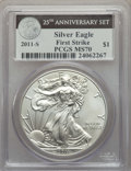 Modern Bullion Coins, 2011-S $1 Silver Eagle, 25th Anniversary, First Strike MS70 PCGS. PCGS Population: (8180). NGC Census: (18262). ...