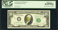 Error Notes:Obstruction Errors, Fr. 2023-I $10 1977 Federal Reserve Note. PCGS Choice New 63PPQ.. ...