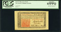 Colonial Notes:New Jersey, New Jersey March 25, 1776 3s John Hart PCGS Gem New 65PPQ.. ...
