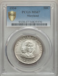 Commemorative Silver, 1934 50C Maryland MS67 PCGS. PCGS Population: (71/0 and 12/0+). NGC Census: (91/3 and 6/0+). CDN: $1,000 Whsle. Bid for pro...