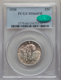 1930 25C MS66 Full Head PCGS. CAC. PCGS Population: (368/49). NGC Census: (161/32). MS66. Mintage 5,632,000. From The...