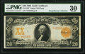 Large Size:Gold Certificates, Fr. 1183* $20 1906 Gold Certificate PMG Very Fine 30.. ...