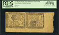 Colonial Notes:Pennsylvania, Pennsylvania October 25, 1775 6d/9d Uncut Vertical Pair PCGS About New 53PPQ.. ...