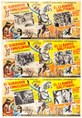 Memorabilia:Movie-Related, Lone Ranger Mexican Double Lobby Cards Group of 3 (Films de Mexico,1958).... (Total: 3 Items)