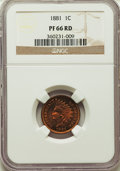 Proof Indian Cents, 1881 1C PR66 Red NGC....