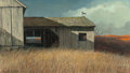 Fine Art - Painting, American, Eric Sloane (American, 1905-1985). November Wind. Oil onMasonite. 24 x 42 inches (61.0 x 106.7 cm). Signed and titled l...