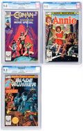 Modern Age (1980-Present):Miscellaneous, Marvel Modern Age Movie Adaptations CGC-Graded Group of 3 (Marvel, 1982).... (Total: 3 Comic Books)
