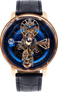 Timepieces:Wristwatch, Jacob & Co, Astronomia Sky, 18k Rose Gold Sidereal CelestialPanorama Triple Axis Tourbillon, Ltd Ed. 06/18, Circa 2017. ...