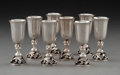 Silver Holloware, American:Cups, Eight Cased Alphonse LaPaglia for International Silver Co. SilverCordial Goblets, Meriden, Connecticut, mid-20th century. M...(Total: 8 Items)