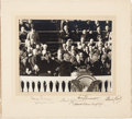Photography:Signed, Harry S. Truman Inauguration Photograph Signed. ...