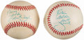 Autographs:Baseballs, Garth Brooks Single Signed Baseball Lot of 2.. ...