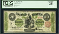 Large Size:Legal Tender Notes, Fr. 125 $20 1862 Legal Tender PCGS Very Fine 25.. ...