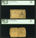 Four New York Colonials - April 20, 1756 £5 PCGS Fine 15, April 15, 1758 £10 PCGS Very Fine 25, April 2, 175...