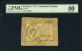 Colonial Notes:Continental Congress Issues, Continental Currency May 9, 1776 $8 PMG Extremely Fine 40.. ...