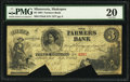 Shakopee, MN- Farmers Bank $3 Sep. 1, 1864 G6 Hewitt B800-D3
