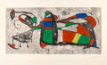 Prints & Multiples, Joan Miró (1893-1983). Tres Joan, 1978. Etching and aquatint in colors on Arches paper, with full margins. 20-3/4 x 42 i...