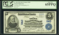 National Bank Notes:Pennsylvania, Philadelphia, PA - $5 1902 Plain Back Fr. 598 The Penn NB Ch. #540. ...