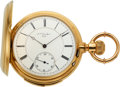 Timepieces:Pocket (pre 1900) , L.C. Grandjean Locle 18k Gold Five Minute Repeater. ...