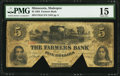 Shakopee, MN- Farmers Bank $5 Sep. 1, 1864 G8 Hewitt B800-D5